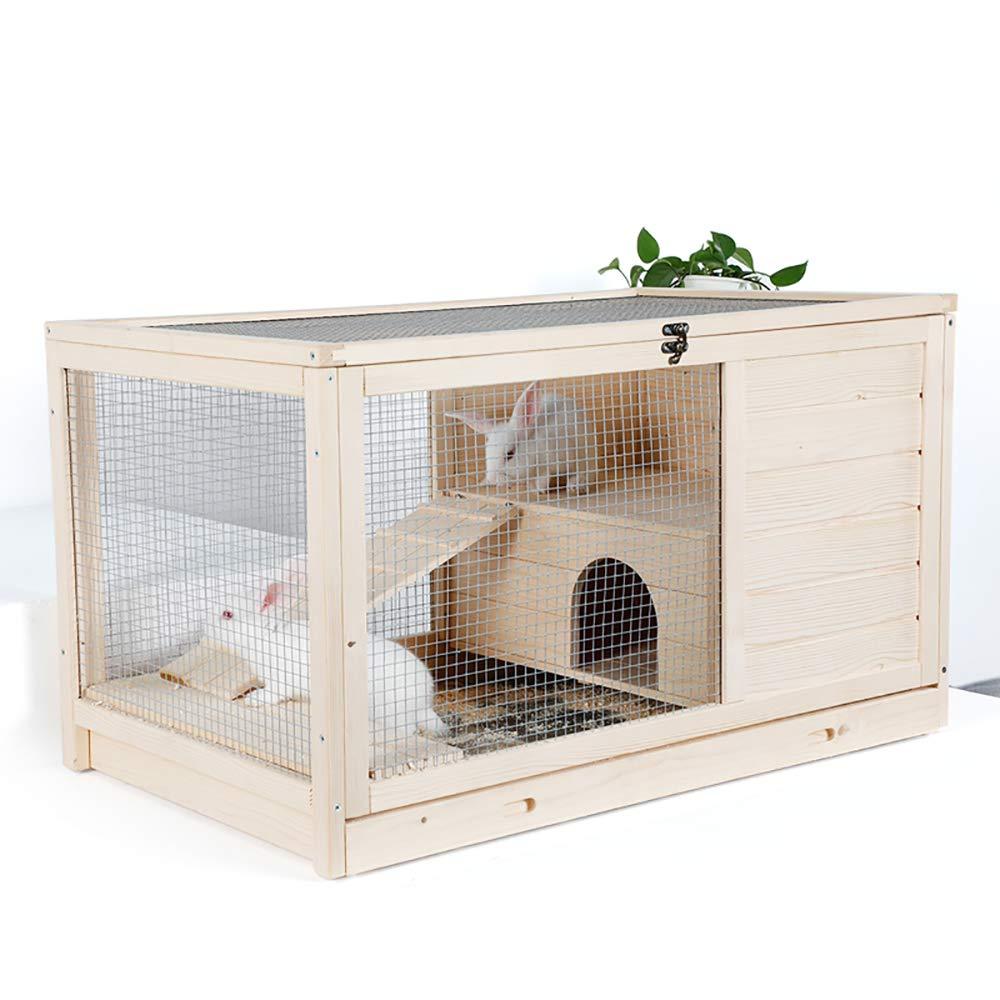 QNMM Hogares para Mascotas Jardín de Madera Patio Trasero Conejito ...