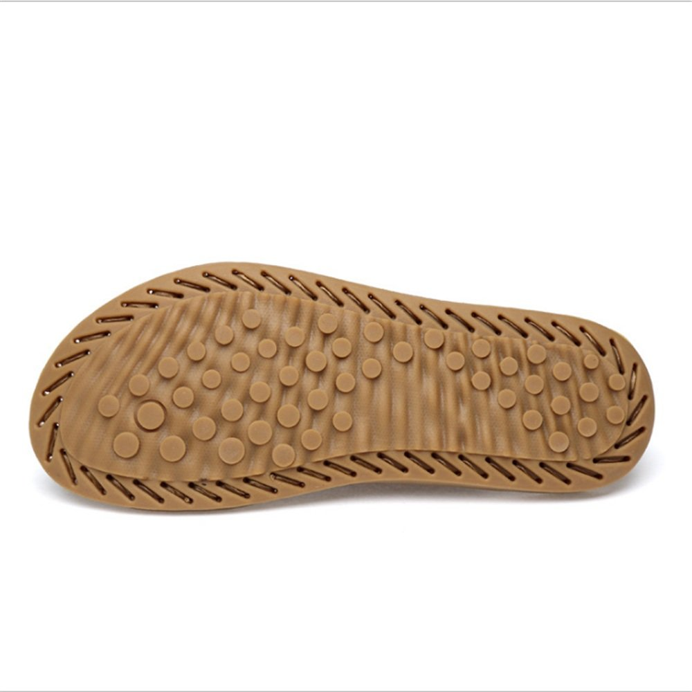 Sandale Herren Outdoor Freizeit (Farbe Leder Anti-Rutsch-Sandalen (24,0-27,0) cm (Farbe Freizeit : Schwarz, Größe : 42 EU) Schwarz 197f88