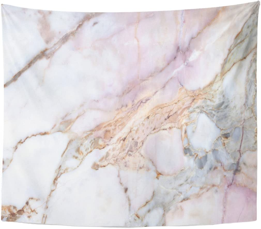 Amazon Com Emvency Tapestry Pink White Marble Pattern With High Resolution Gray Black Home Decor Wall Hanging For Living Room Bedroom Dorm 50x60 Inches Everything Else