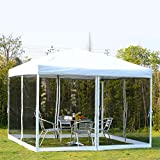GHP 10×10 Ft. Beige Outdoor Pop up Tent Canopy Gazebo Review