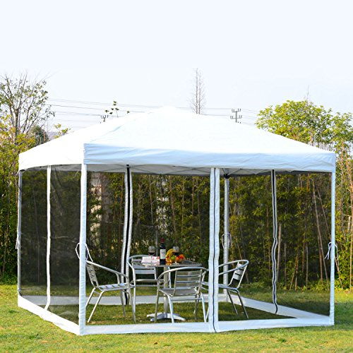 Instant Shelter Commercial 10x10 Ft Ourdoor Garden with Mesh Pop Up Canopy - Town Down Minneapolis