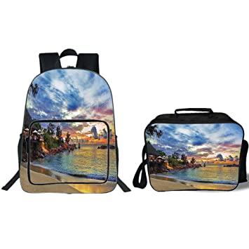Amazon Com Iprint 19 School Backpack Lunch Bag Bundle