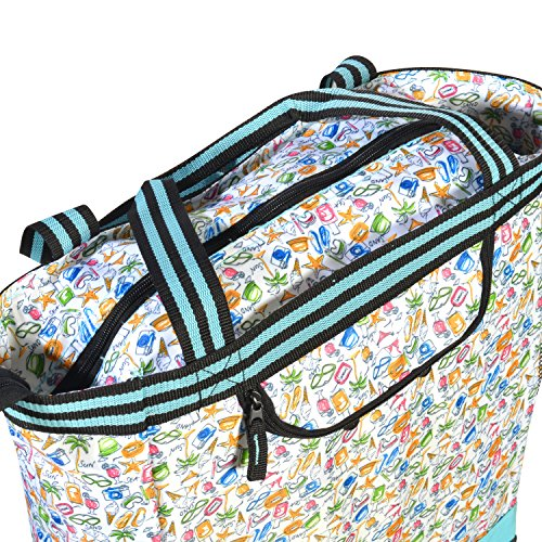 Olympia 2-Piece Rolling Shopper Tote and Cooler Bag, Beach by Olympia (Image #4)