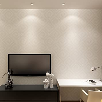 Hanmero Papier Peint Intisse Style Moderne Motif Geometrique Pour