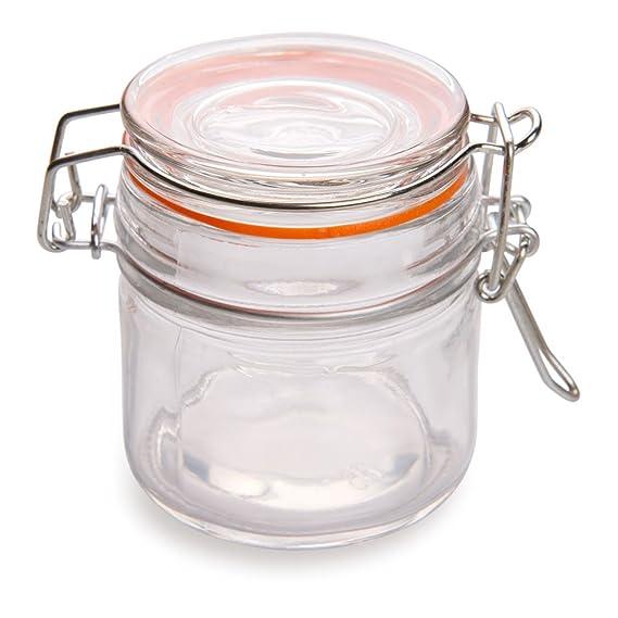 Nostalgic Clamp Lid Glass Mason Jar 8.5 ounces 10 count box