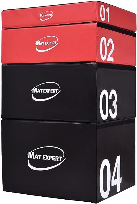 MAT EXPERT - Caja de salto segura para hacer ejercicios pliométricos, de espuma suave y PVC, Full Set Height: Amazon.es: Deportes y aire libre