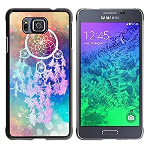 Paccase / SLIM PC / Aliminium Casa Carcasa Funda Case Cover para - Catcher Art Hipster Indian Colors - Samsung GALAXY ALPHA G850