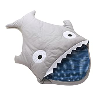Amazon.com: lshcx Baby bebé Shark Bites Saco de dormir manta ...