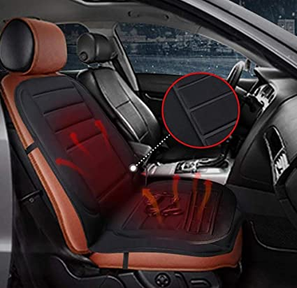 1 pc Heating Cushion with Easy Controller for Car Driver Eubell 12V Heated Seat Cushion