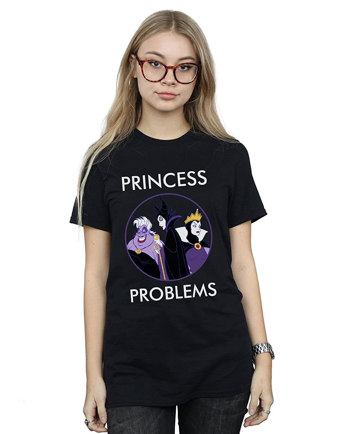 Disney Mujer Villains Princess Headaches Camiseta del Novio Fit