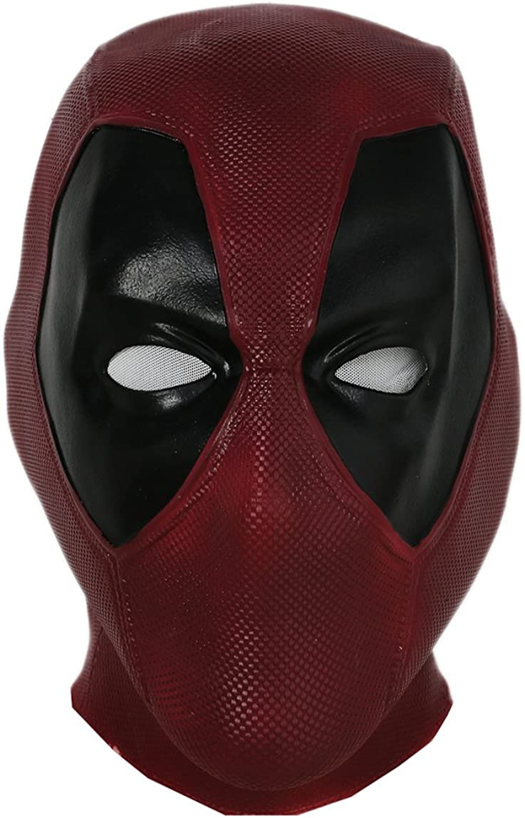 Deadpool 3D Latex Mask Cosplay Prop Adult Halloween Party Full Face Mask Helmet