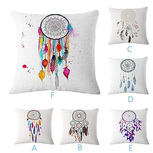 Amazon.com: LOKODO - Funda de cojín decorativa con diseño ...