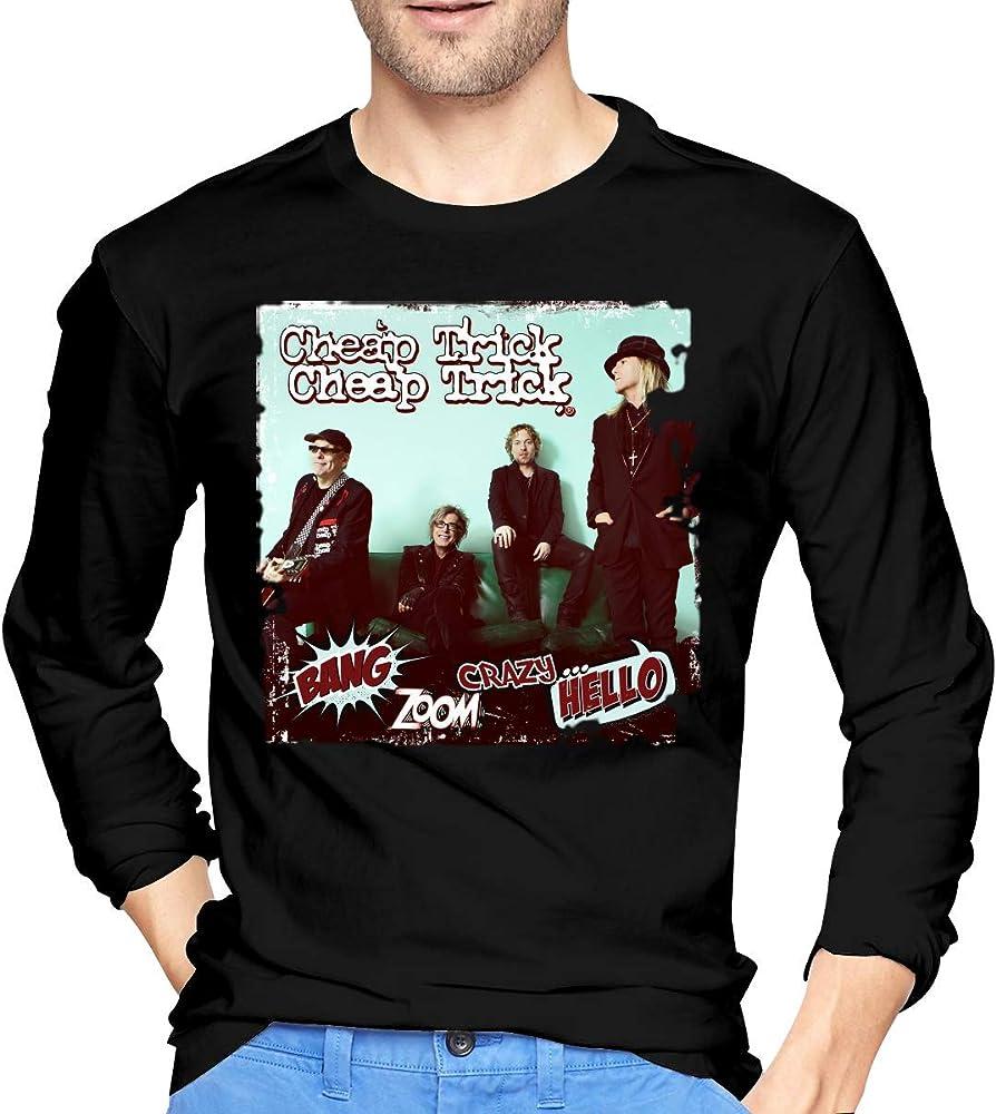 Sporsy T Manga Larga Camiseta Mens Trick Bang Zoom Crazy Hello Long Sleeve T Shirt Black: Amazon.es: Ropa y accesorios