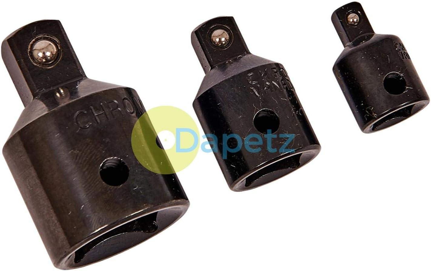 Dapetz /® Impact Socket Reducer Set Step Down Adaptors 3//4 To 1//2 To 3//8 To 1//4 Drives