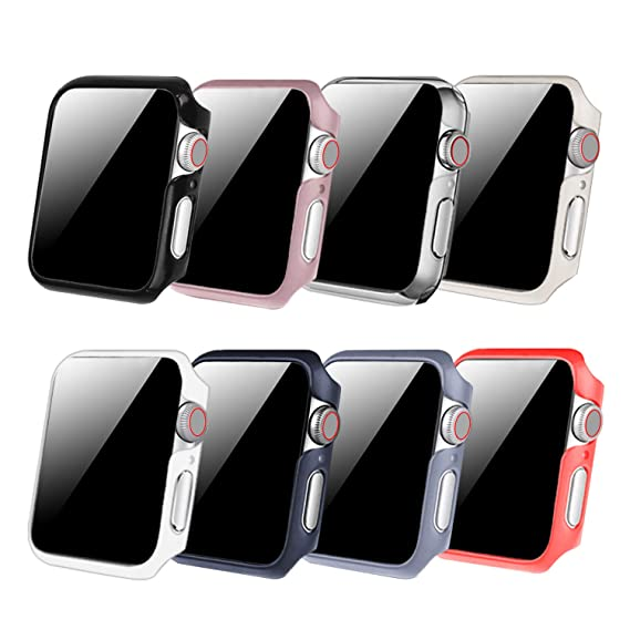 sports shoes 1a5f7 fbb13 [8 Color Pack] Fintie for Apple Watch Case 42mm, Slim Lightweight  Polycarbonate Hard Protective Bumper Cover for All Versions 42mm iWatch  Series 3 ...