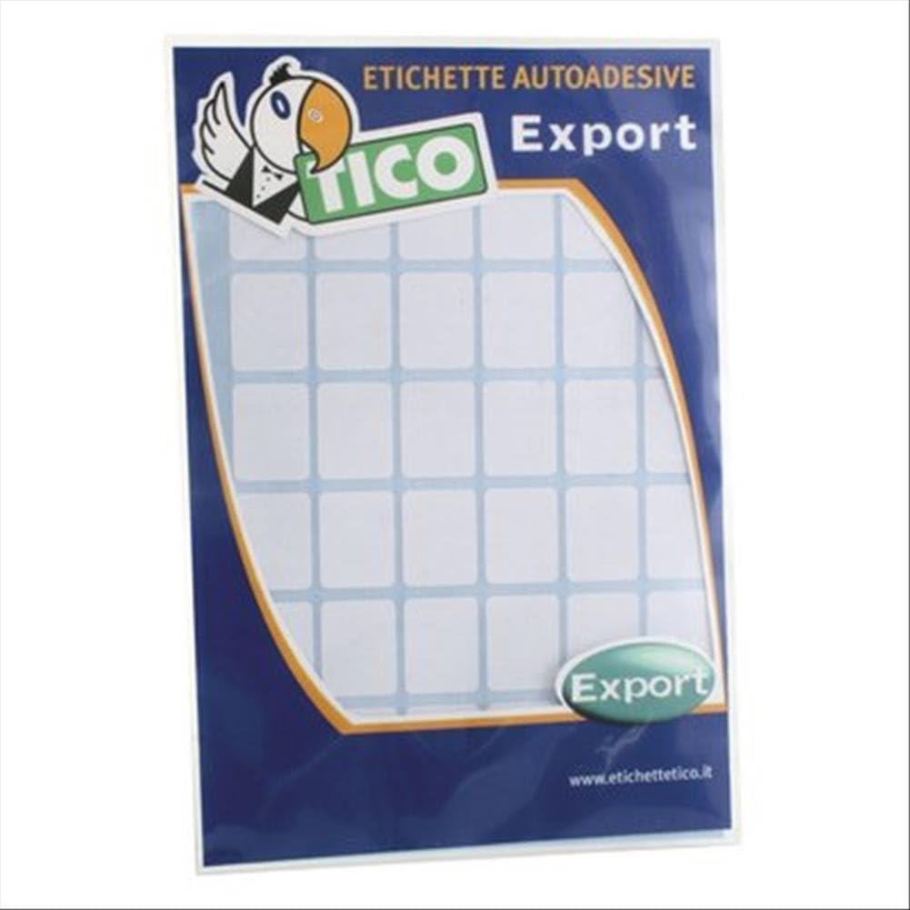 Tico Espa/ña E-4622 Etiquetas A5 blancas adhesivas escribible 46x22mm sobre de 10 hojas