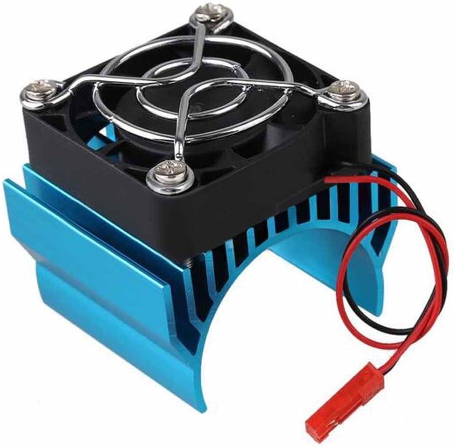 BeIilan Sin escobillas de Aluminio 540 550 Motor del disipador de Calor de la Cubierta del Ventilador de refrigeración del disipador de Calor del reemplazo para uno y Diez HSP RC Car