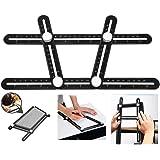 Multi Angle Measuring Ruler, BOMPOW Aluminum Alloy Multi Angle Ruler Template Tool Layout Tool Measurement for Handymen…