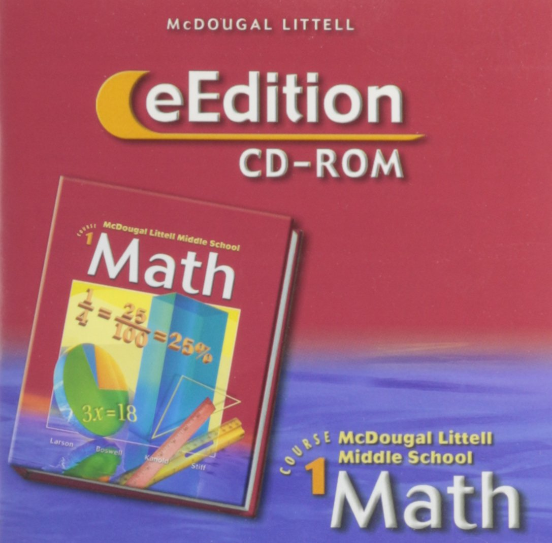 McDougal Littell Middle School Math, Course 1: eEdition CD-ROM © 2005 2005 pdf epub