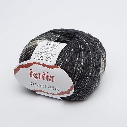 Katia oceania Fb. 67 – Negro/Antracita, lino hilo para punto y ...