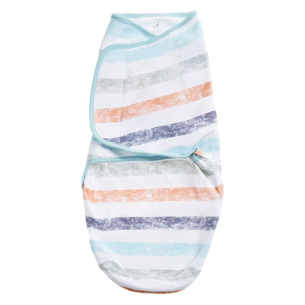 Aden by Aden + Anais Swaddle Wearable Baby Wrap, 100% Cotton, Faded Stripe