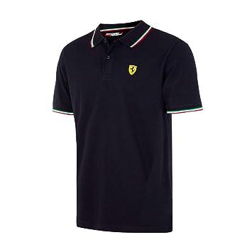 Scuderia Ferrari Polo Oficial Italia Negro XL: Amazon.es: Deportes ...