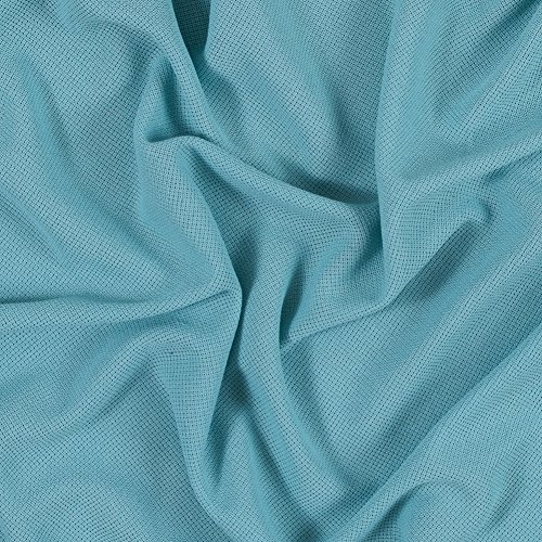 Mood Fabrics Pastel Turquoise Stretch Cotton Knit, Pattern: Solid