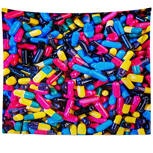 60 Capsules Sprinkle (Westlake Art - Wall Hanging Tapestry - Drug Medicine - Photography Home Decor Living Room - 51x60in)
