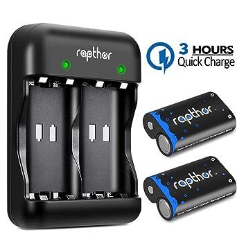 Rapthor Paquete de baterías Xbox One 2x2500mAh Batería ...