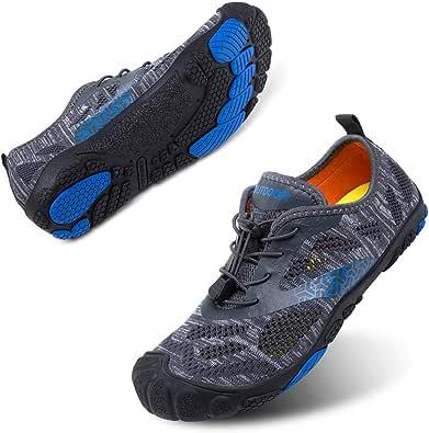 Zapatillas Minimalista Hombre Mujer de Trail Running Escarpines Zapatos de Agua Secado Rápido Deportes Antideslizante Unisexo Negro Azul Gris Rosa Tamaño Reino Unido 35-47: Amazon.es: Zapatos y complementos