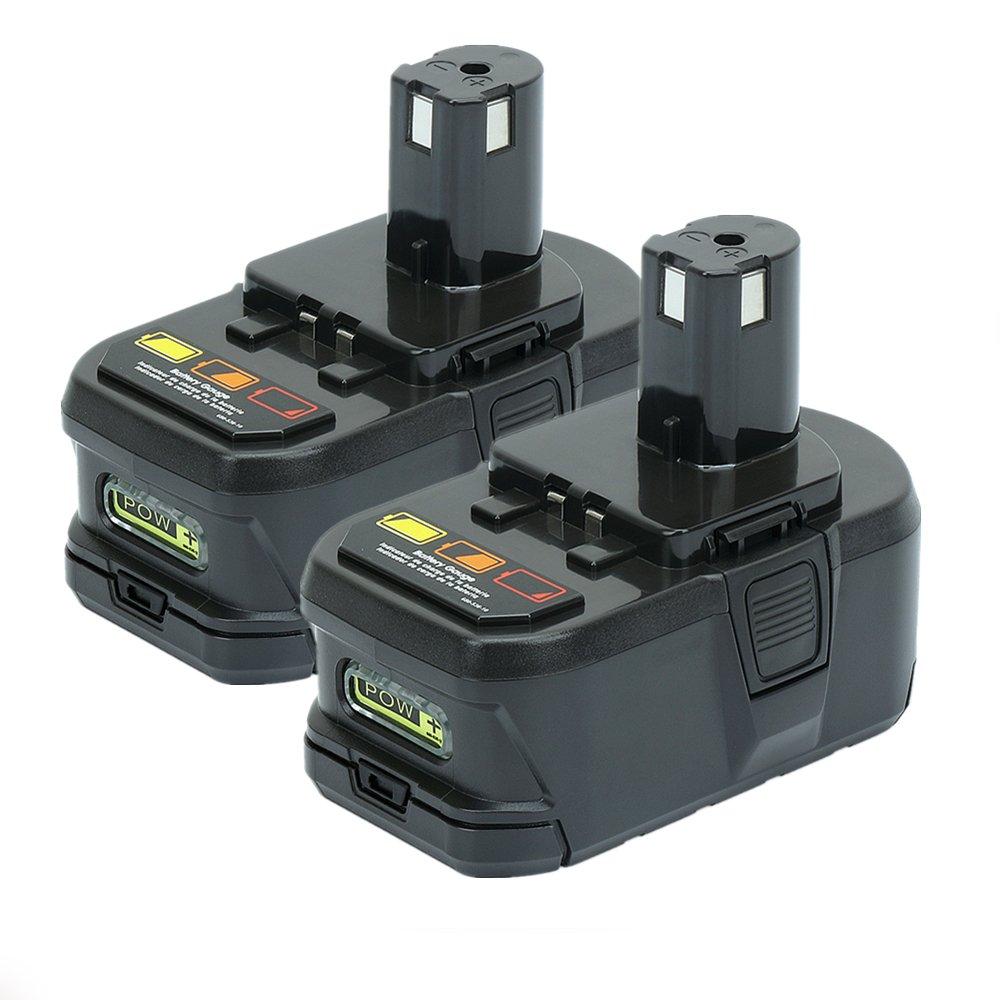 18V 3000mAh Nimh Rechargeable Battery for Ryobi One + P100 ABP1801 P101 BPP-1820 ABP1803 130224007 BPP-1813 BPP-1815 BPP-1817 POWERGIANT 737-389-10