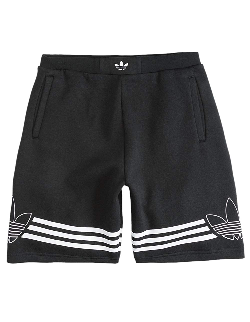 f28807ecee8e1 Amazon.com: adidas Outline Boys Sweat Shorts, Black, Medium: Clothing