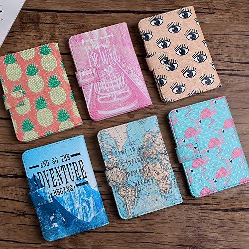 Voyage Support Carte Protection Passport De cartes Coque Document Ananas Portefeuille Cuir Crédit Organiseur Porte Housse F5zxqw