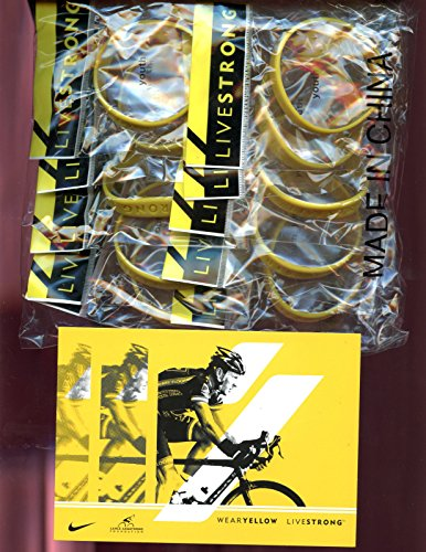 LOT OF 10 LiveStrong Bracelet Arm Band Wrist Lance Armstrong Post Card YOUTH ()