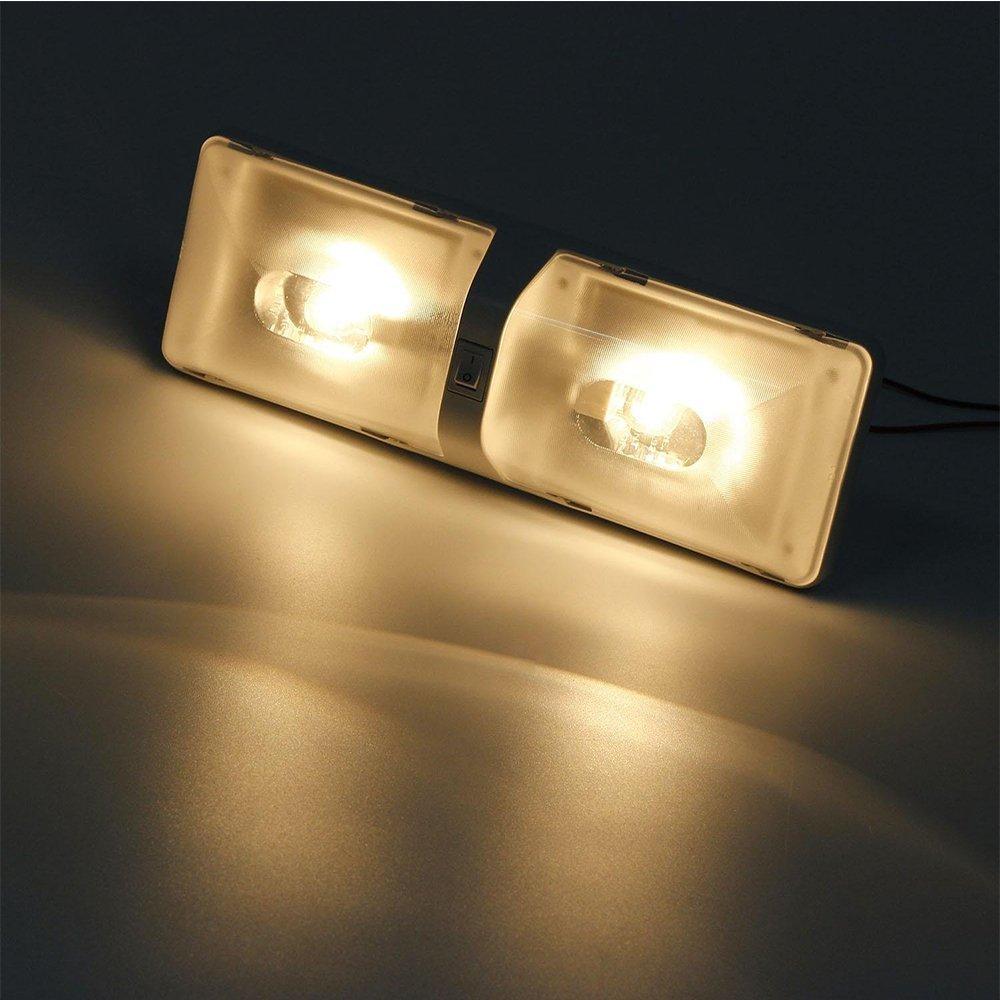 AMAZENAR 2-Pack 1156 1156NA 7506 1141 1003 1073 Bianco Caldo 3000K LED Light 10-30V-DC Importato 5050 18 SMD Lampadina di Ricambio per Interni RV Camper Indicatori di Direzione Lampade