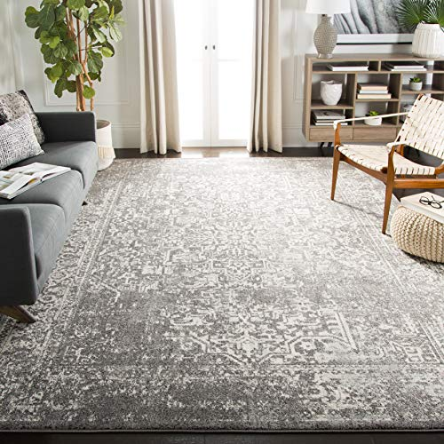 Safavieh Evoke Collection EVK256D Vintage Oriental Grey and Ivory Area Rug (9' x 12') ()
