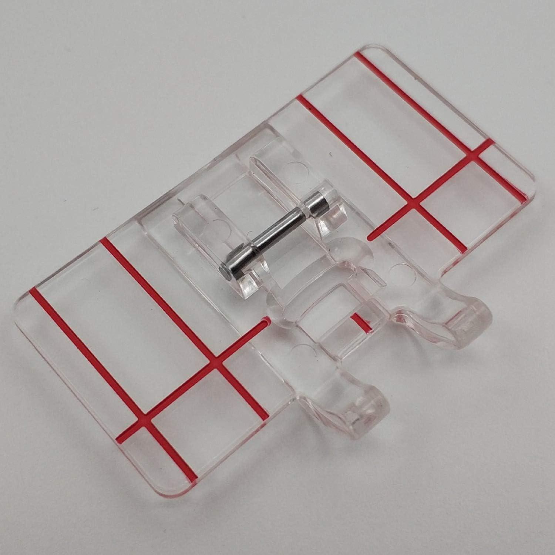 Mifive Presseur De Pied De Point Parall/èle Simple en Plastique Transparent pour Machine /à Coudre Domestique Multifonction Outil De Couture De Point Parall/èle