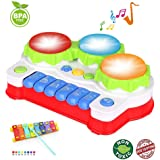 EXCOUP Baby Drums Keyboard Musical Toys Piano Toddler Learning Toys for 2 3 years old Best Birthday Festival Gift