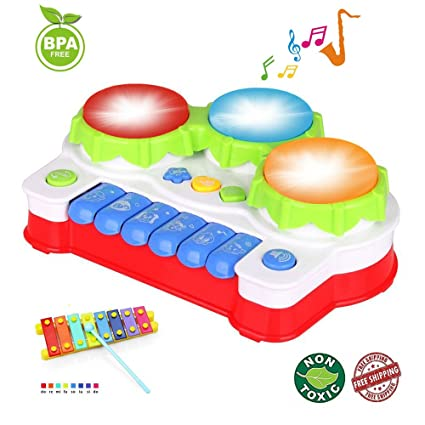Amazon EXCOUP Baby Drums Musical Toys Piano Gifts For 1 Year Old Toddler Keyboard Birthday Festival Gift Games