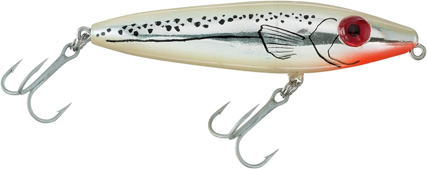 """Mirrolure 83MR-CRBN She Dog Chartreuse//Chrome 4/"""" Fishing Topwater Lure"""
