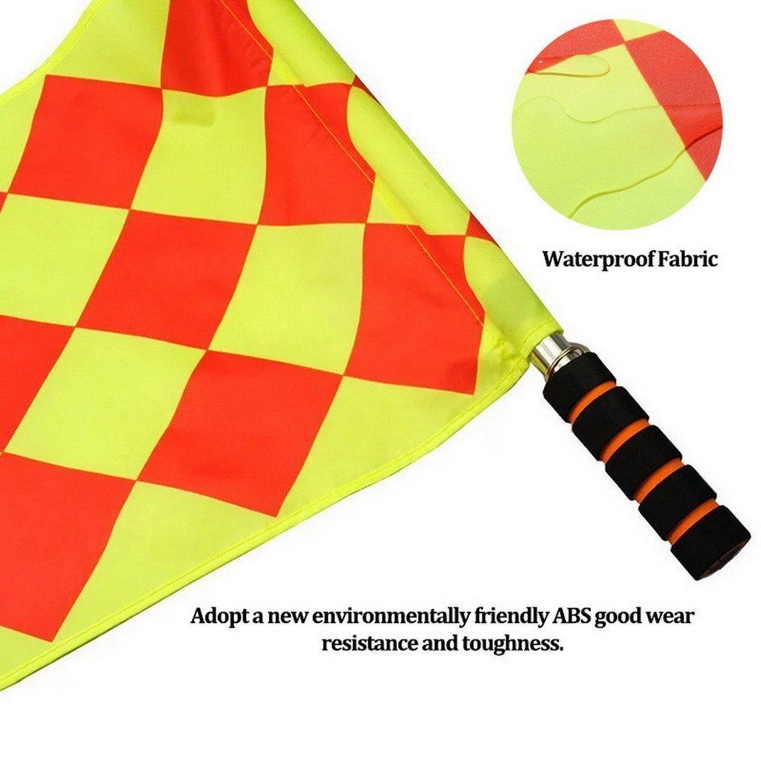 f/útbol, rugby, hocke HUYUHAN 2 piezas de equipo de competici/ón de f/útbol para /árbitro de f/útbol con mango de espuma antideslizante con bolsas de transporte