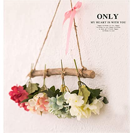 Cool Kemin Fake Flower Bouquet Artificial Wreath Wooden Stick Home Remodeling Inspirations Cosmcuboardxyz