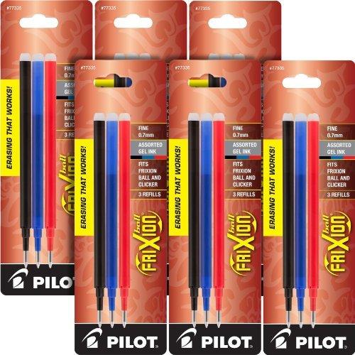 Pilot Choose Gel Ink Pen - Pilot Gel Ink Refills for Frixion Erasable Gel Ink Pen, Fine Point - Pack of 18 (PIL77335-6)