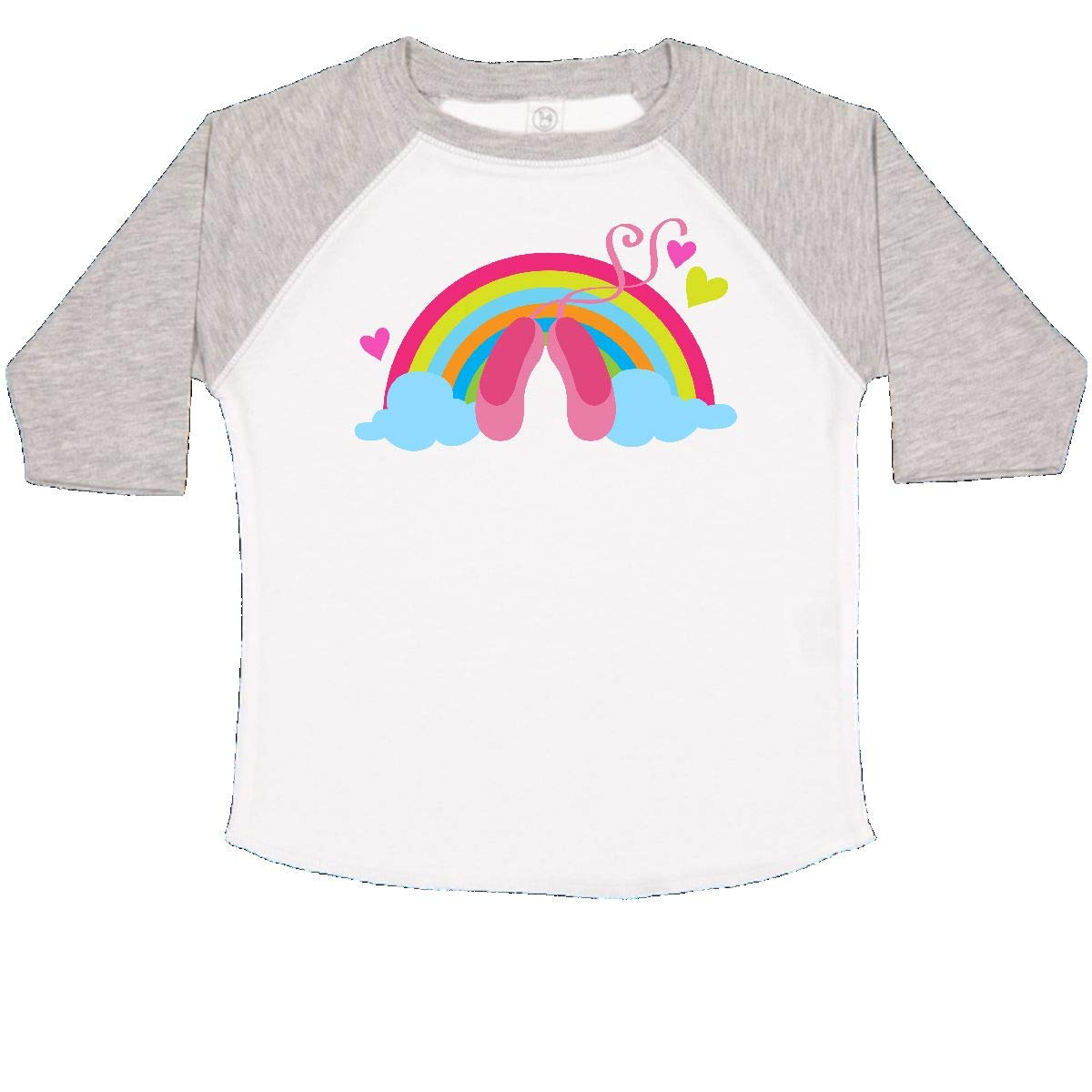 inktastic Ballet Slippers and Rainbow Toddler T-Shirt