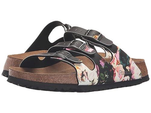 4a5e07dbb7 Birkenstock Women s Birko-Flor Florida Painted Bloom Black Birko-Flor  Sandals - 36 N EU  Buy Online at Low Prices in India - Amazon.in