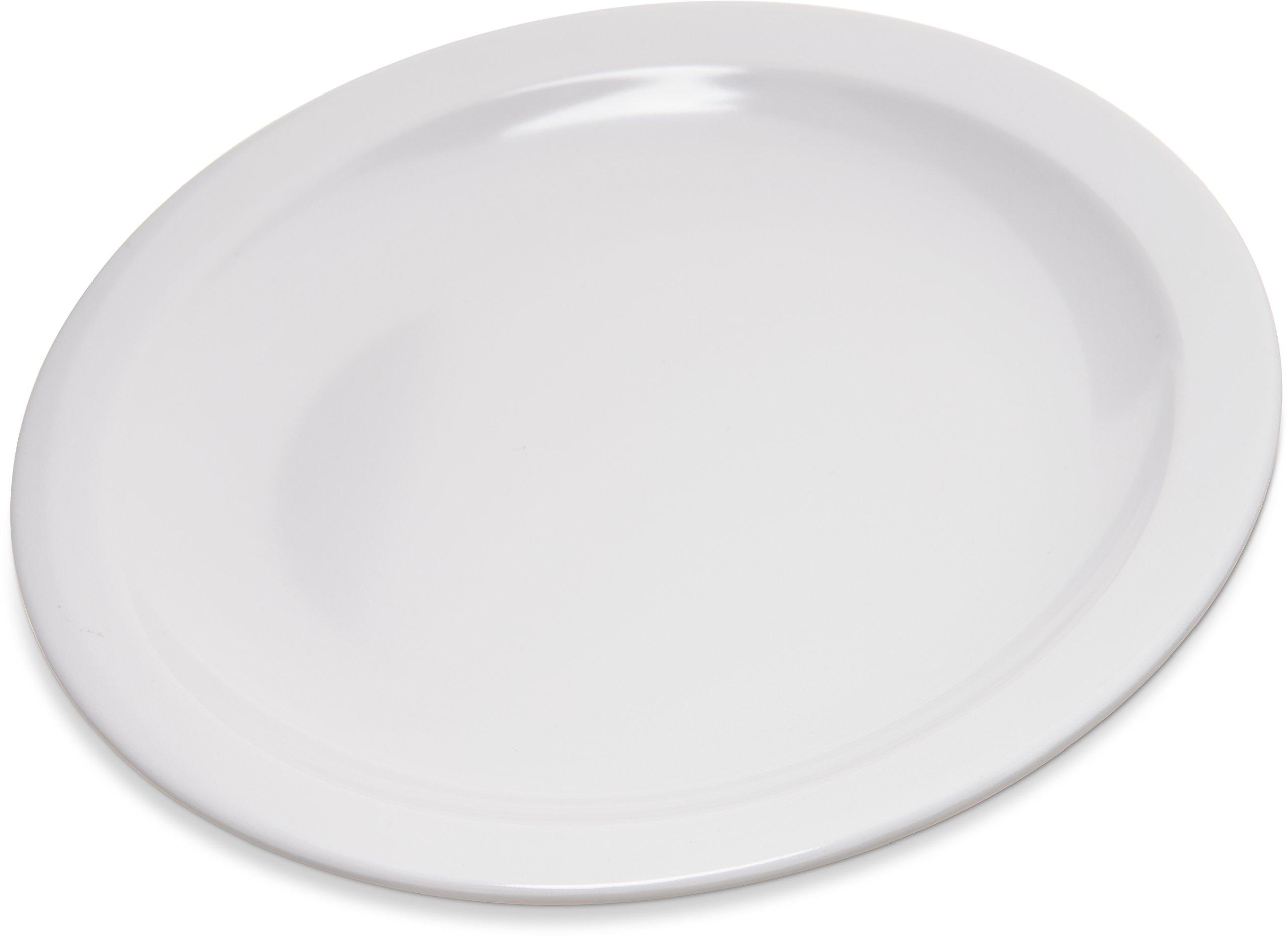 Carlisle 4350402 Dallas Ware Melamine Pie Plate, 6.5'' Diameter x 0.70'' Height, White (Case of 48)