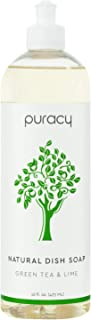 product image for Puracy Natural Dish Soap, Green Tea & Lime, Sulfate-Free Liquid Dishwashing Detergent, 16 Ounce