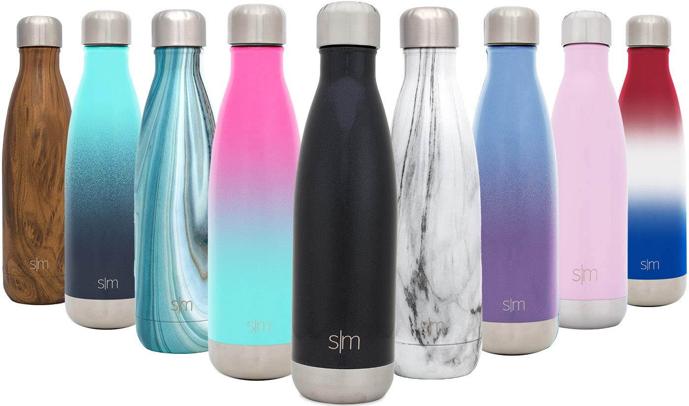 Easy Fashionable Wave Water Bottle - Vacuum Insulated Double Wall 18/eight Stainless Metal