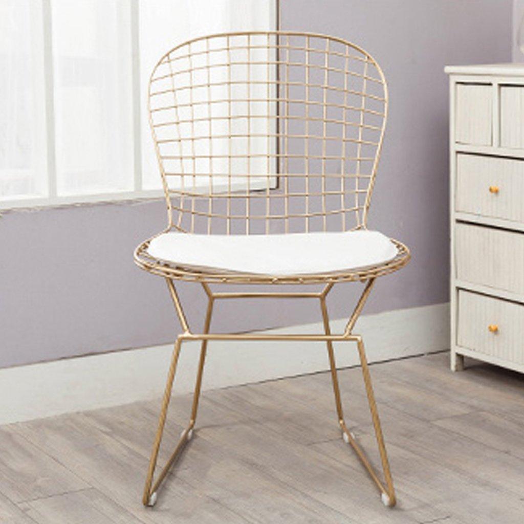 中空有刺鉄線の椅子現代のlronアート背もたれの椅子シンプルなダイニングチェアバルコニーラウンジチェア屋外椅子4色オプション42 * 47 * 84Cm,D B07C5K5L1V D D