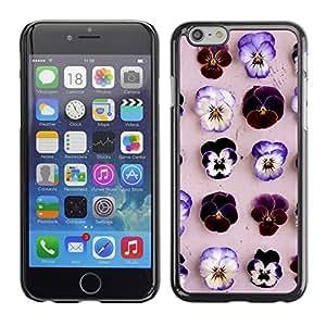 Cubierta de la caja de protección la piel dura para el Apple iPhone 6 (4.7) - flowers pattern spring nature lilac pink